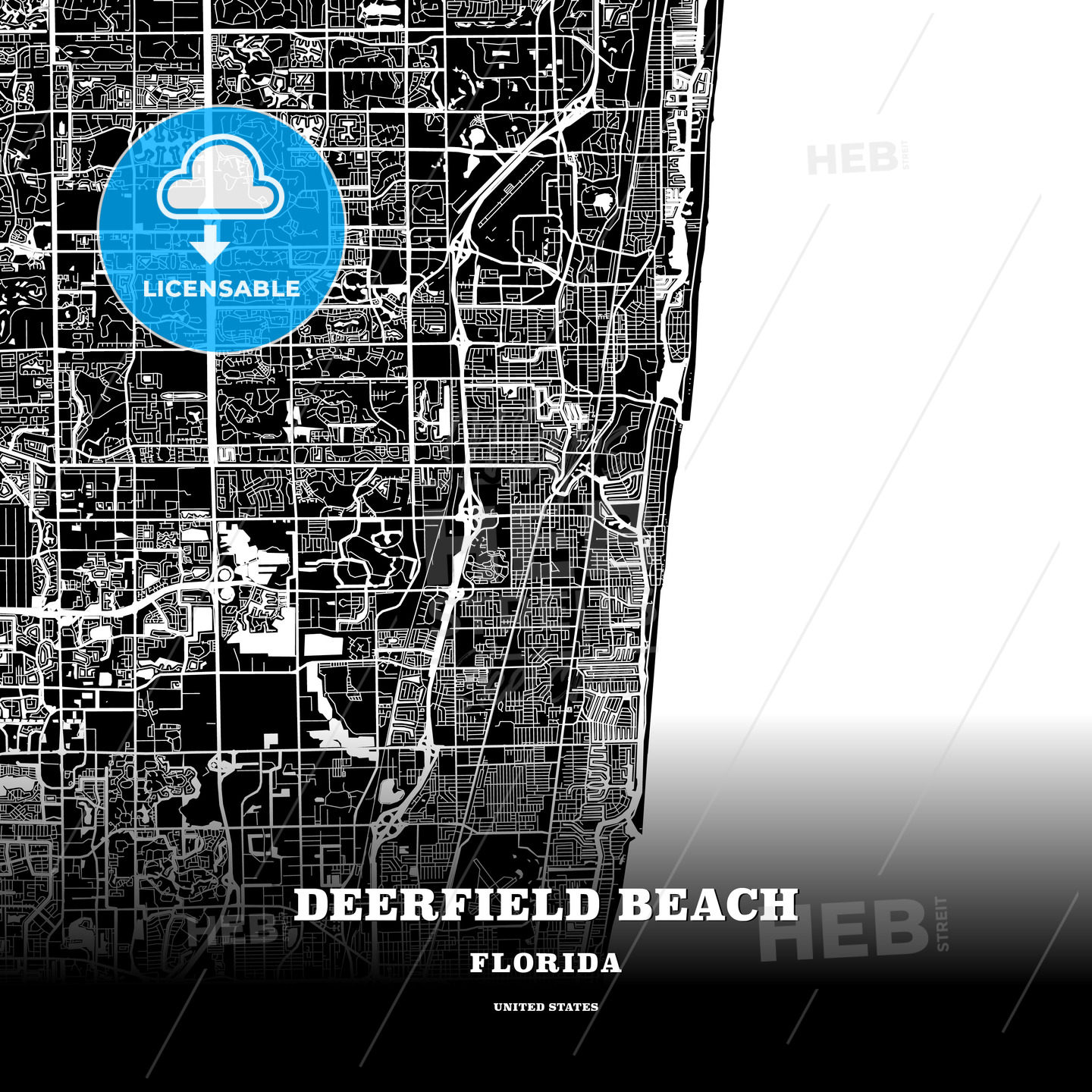 Black map poster template of Deerfield Beach, Florida, USA on sterling florida map, st charles florida map, decatur florida map, deep creek florida map, huntington florida map, rosemont florida map, barrington florida map, kissimmee florida map, troy florida map, stonecrest florida map, long lake florida map, rockland florida map, lincoln florida map, countryside florida map, sea breeze florida map, janesville florida map, briarwood florida map, bennington florida map, boca raton florida map, haverhill florida map,