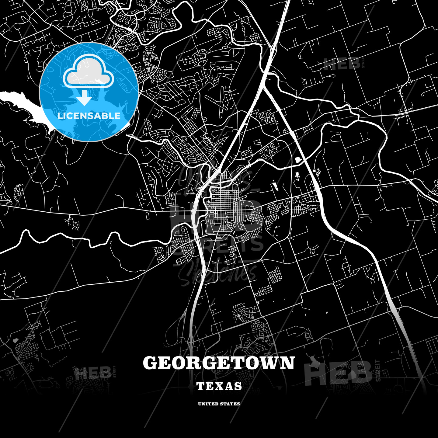 Black map poster template of Georgetown, Texas, USA on ut austin texas map, tarrytown texas map, hull texas map, new braunsfels texas map, bradford texas map, la coste texas map, johnsonville texas map, milton texas map, newberry texas map, perkins texas map, southport texas map, hudson texas map, river plantation texas map, vista ridge texas map, victor texas map, ellsworth texas map, deanville texas map, williamson county texas map, jonesboro texas map, lima texas map,