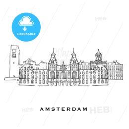 Amsterdam Netherlands famous architecture