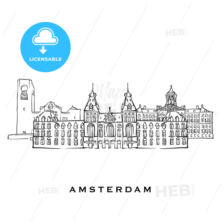 Amsterdam Netherlands famous architecture - HEBSTREITS