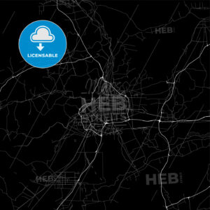 Area map of Datong, China, Province Shanxi - HEBSTREITS
