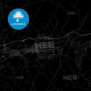 Area map of Fushun, China, Province Liaoning - HEBSTREITS