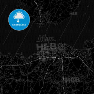 Area map of Haikou, China, Province Hainan - HEBSTREITS