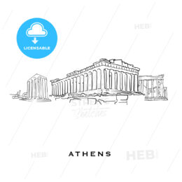 Athens Greece famous architecture