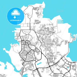 Batam Indonesia light map - HEBSTREITS