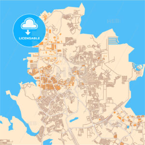 Batam downtown vector map - HEBSTREITS
