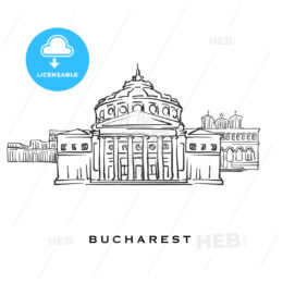 Bucharest Romania famous architecture