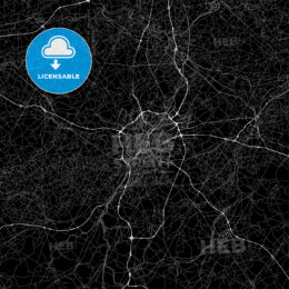 Dark area map of Brussels, Belgium