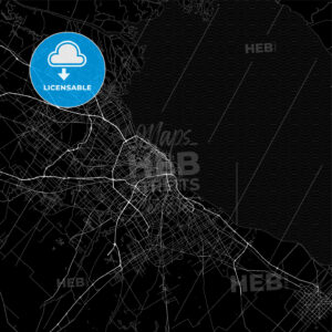 Dark area map of Buenos Aires City, Argentina - HEBSTREITS