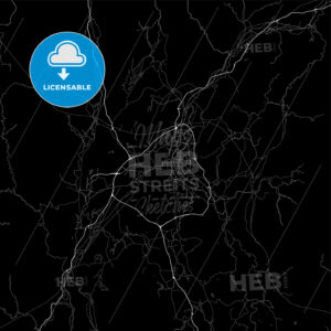 Dark area map of Guilin, China - HEBSTREITS