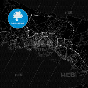 Dark area map of Istanbul, Turkey - HEBSTREITS