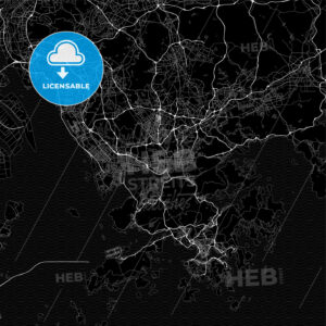 Dark area map of Shenzhen, China - HEBSTREITS