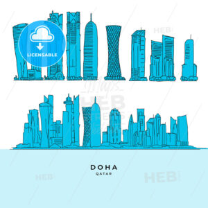 Doha Qatar Skyscraper set - HEBSTREITS