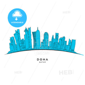 Doha Qatar outline sketch - HEBSTREITS
