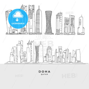 Doha Qatar skyscaper set - HEBSTREITS