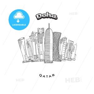 Doha Towers Skyline - HEBSTREITS