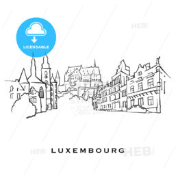 Luxembourg famous architecture - HEBSTREITS