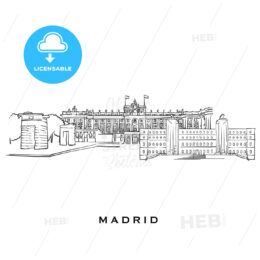 Madrid Spain famous architecture