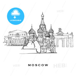 Moscow Russia famous architecture