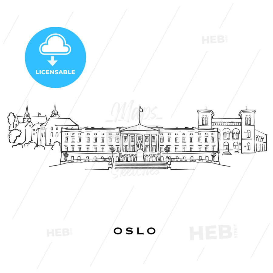 Oslo Norway famous architecture - HEBSTREITS