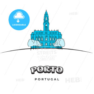 Porto Portugal travel sign - HEBSTREITS