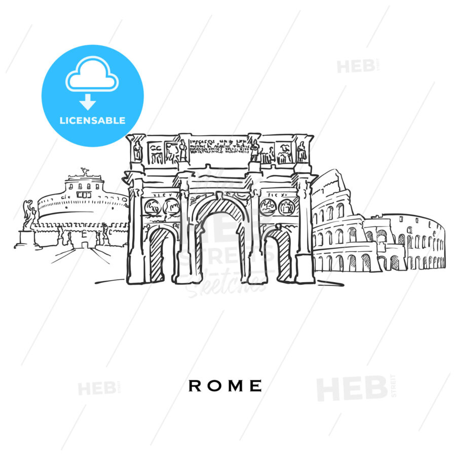 Rome Italy famous architecture - HEBSTREITS