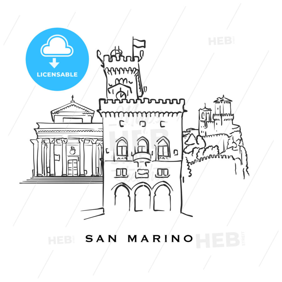 San Marino famous architecture - HEBSTREITS