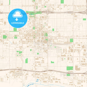 Street map of downtown Phoenix, Arizona - HEBSTREITS