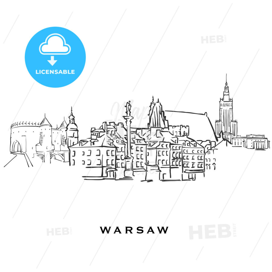 Warsaw Poland famous architecture - HEBSTREITS