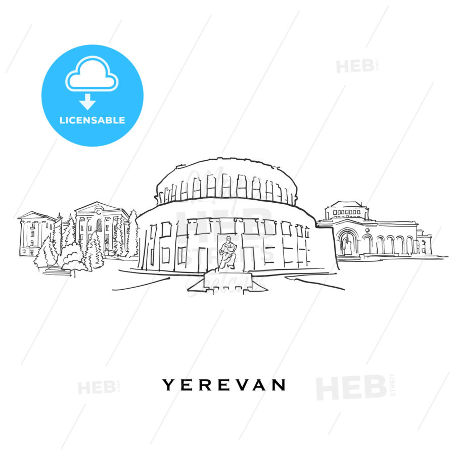 Yerevan Armenia famous architecture - HEBSTREITS