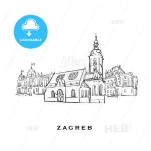 Zagreb Croatia famous architecture - HEBSTREITS