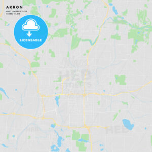 Printable street map of Akron, Ohio - HEBSTREITS