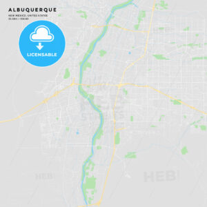 Printable street map of Albuquerque, New Mexico - HEBSTREITS