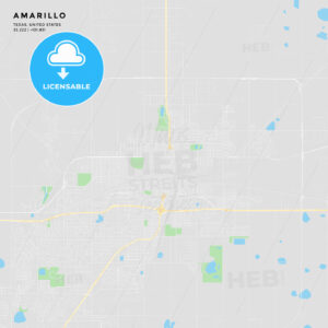 Printable street map of Amarillo, Texas - HEBSTREITS