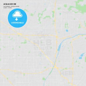 Printable street map of Anaheim, California - HEBSTREITS