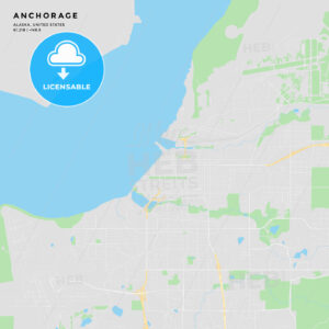 Printable street map of Anchorage, Alaska - HEBSTREITS