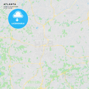 Printable street map of Atlanta, Georgia - HEBSTREITS
