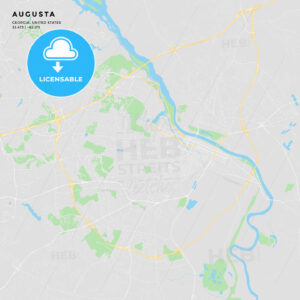 Printable street map of Augusta, Georgia - HEBSTREITS