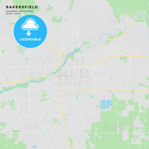 Printable street map of Bakersfield, California - HEBSTREITS