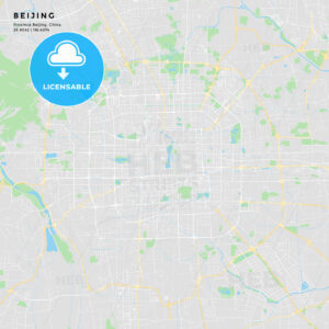 Printable street map of Beijing, China - HEBSTREITS