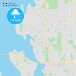 Printable street map of Bellevue, Washington - HEBSTREITS
