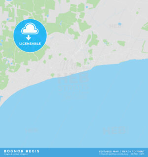 Printable street map of Bognor Regis, England - HEBSTREITS