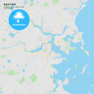 Printable street map of Boston, Massachusetts - HEBSTREITS