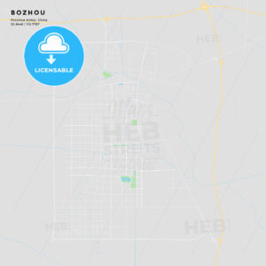 Printable street map of Bozhou, China - HEBSTREITS