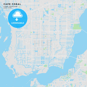 Printable street map of Cape Coral, Florida - HEBSTREITS