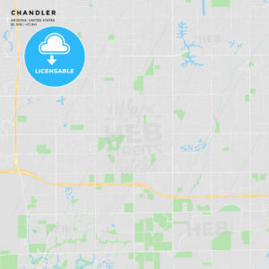 Printable street map of Chandler, Arizona - HEBSTREITS