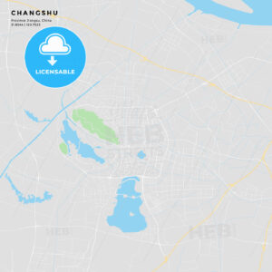 Printable street map of Changshu, China - HEBSTREITS