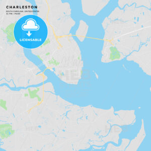 Printable street map of Charleston, South Carolina - HEBSTREITS