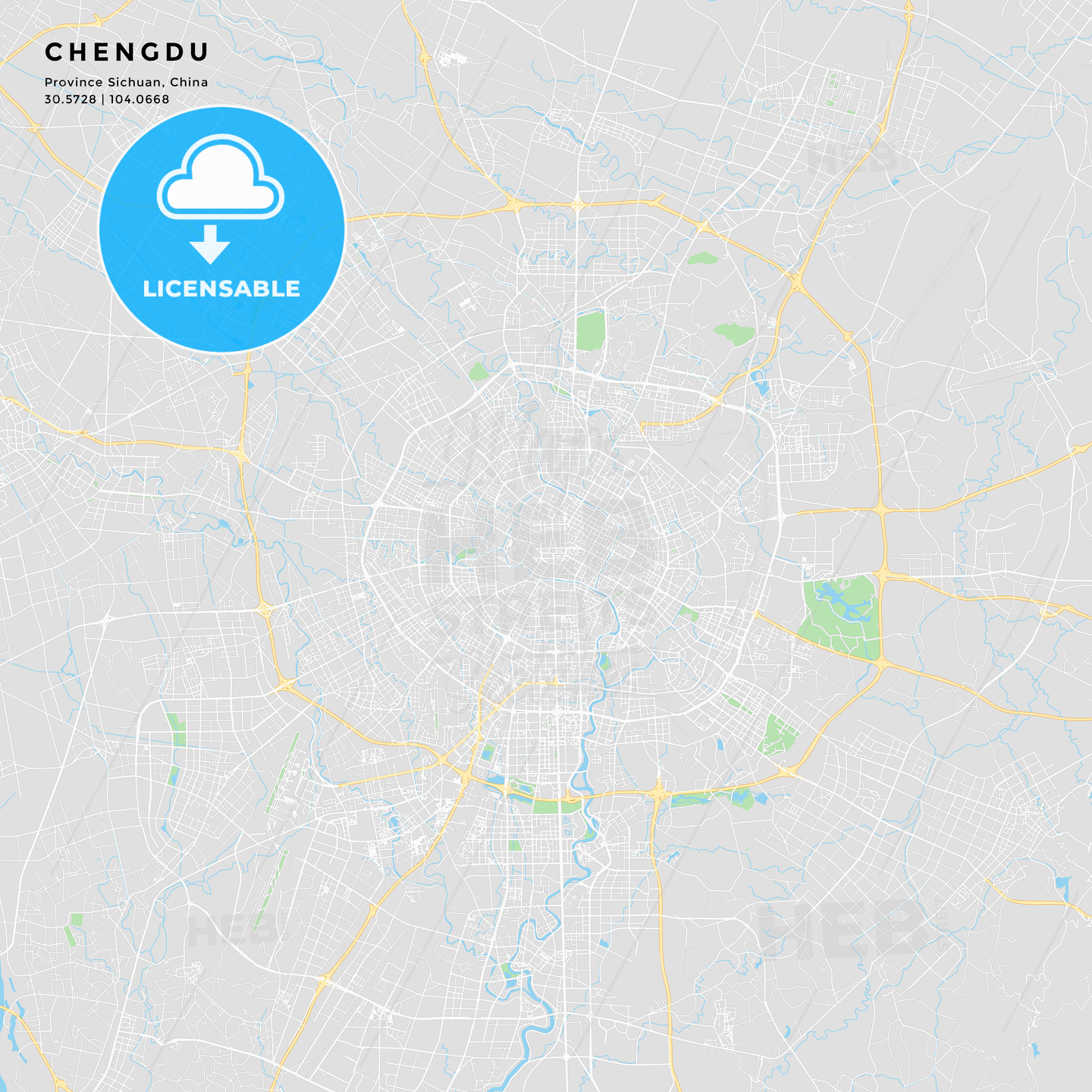 Printable street map of Chengdu, China   HEBSTREITS Sketches on