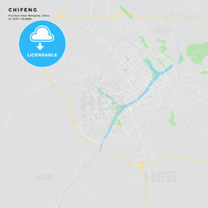 Printable street map of Chifeng, China - HEBSTREITS